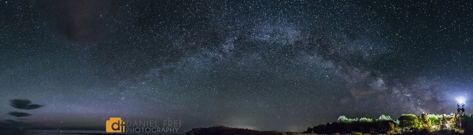 Milky Way over Grand Traverse Lighthouse