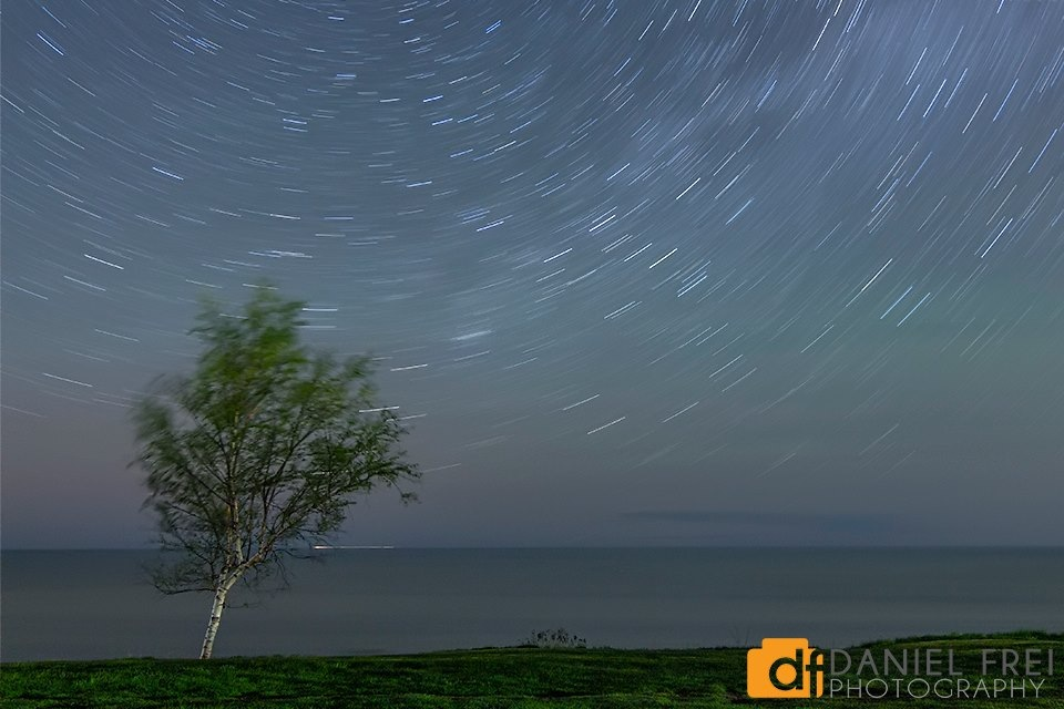 Star Trails at Pointe Aux Barques