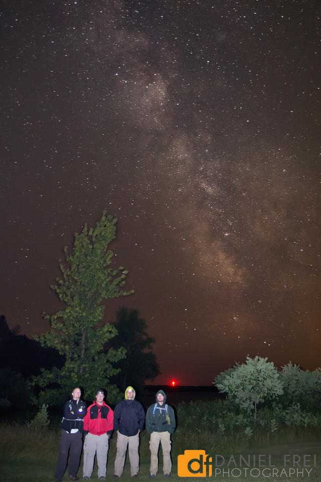 Camping Crew under the Milky Way